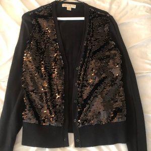 Michael Kors Black Sequin Cardigan , Size M